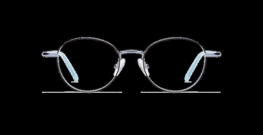 Lunettes de vue femme NELIA noir/bleu - Vue de face