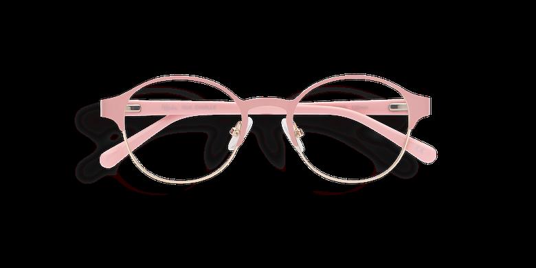 Lunettes de vue femme CAMILLE rose/doré