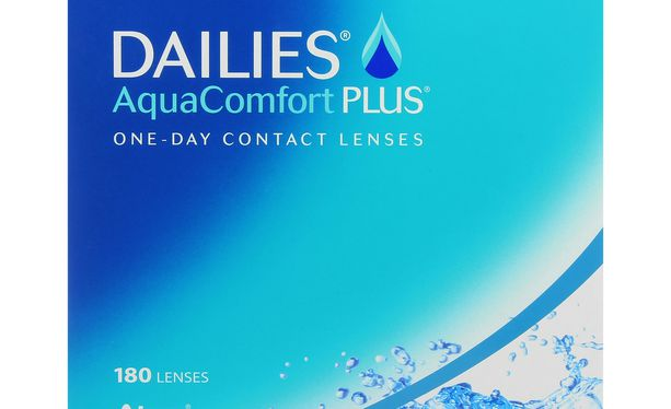Lentilles de contact Dailies AquaComfort Plus 180L - Vue de face