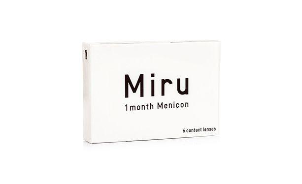 Lentilles de contact Menicon Miru 1 Month - Vue de face