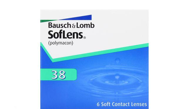 Lentilles de contact SofLens 38 6L - Vue de face