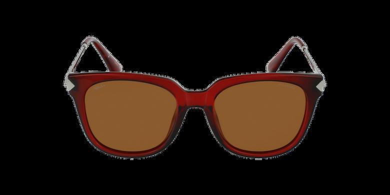 Lunettes de soleil femme VETEAA rouge/argenté