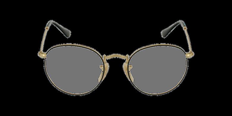Lunettes de vue 0RX3447V doré/noirVue de face