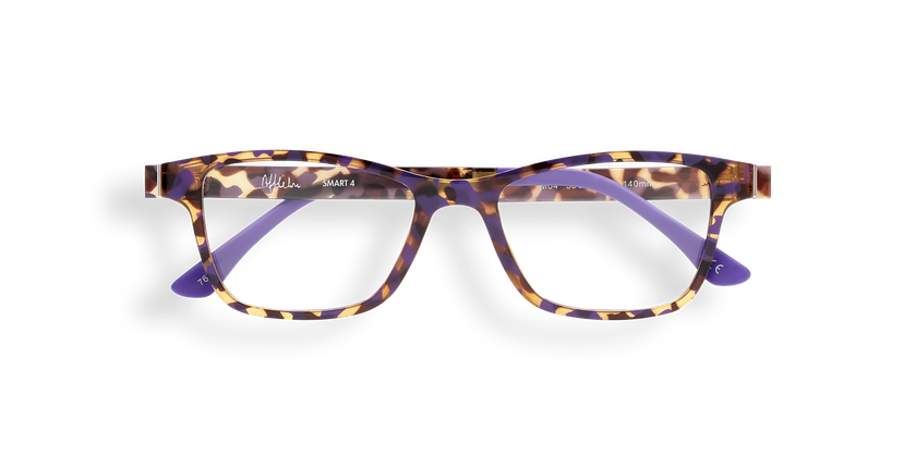 Lunettes de vue femme SMART TONIC 04 écaille/écaille violet - Vue de face