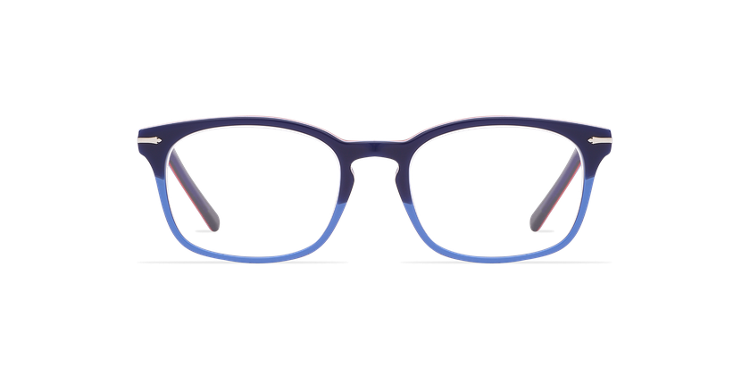 Lunettes de vue homme BELLIGNAT bleu/rouge - Vue de face