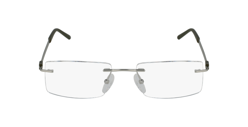 Lunettes de vue homme IDEALE-04 argenté/vert - Vue de face