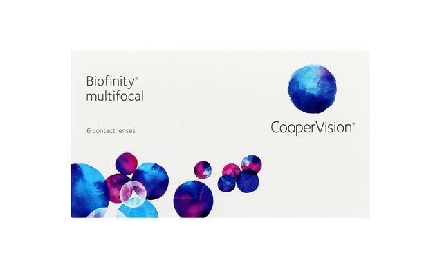 Lentilles de contact Biofinity® multifocal 6L - Vue de face