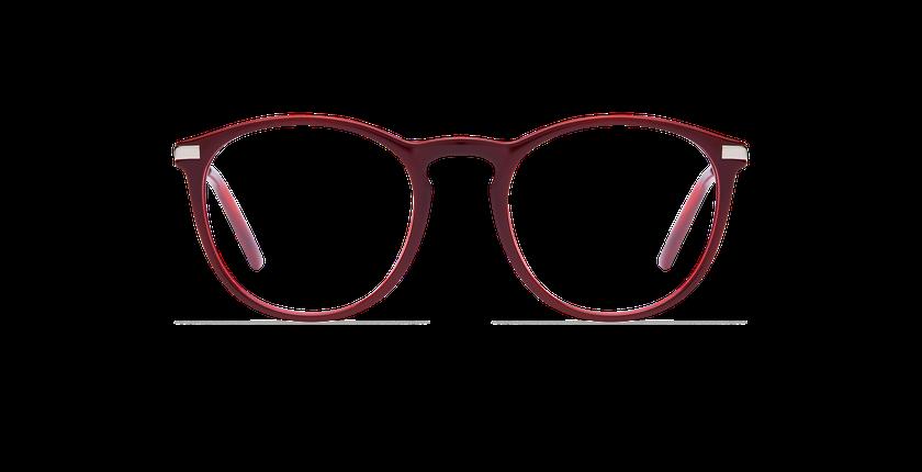 Lunettes de vue femme ZELDA rouge - Vue de face