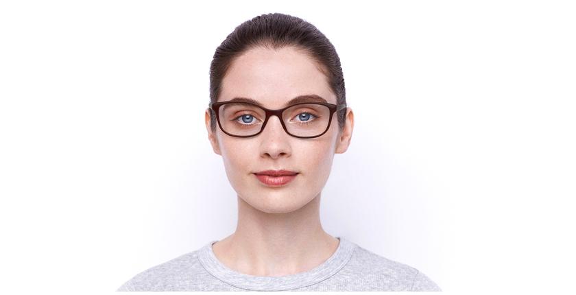 Lunettes de vue femme RZERO4 rouge - Vue de face