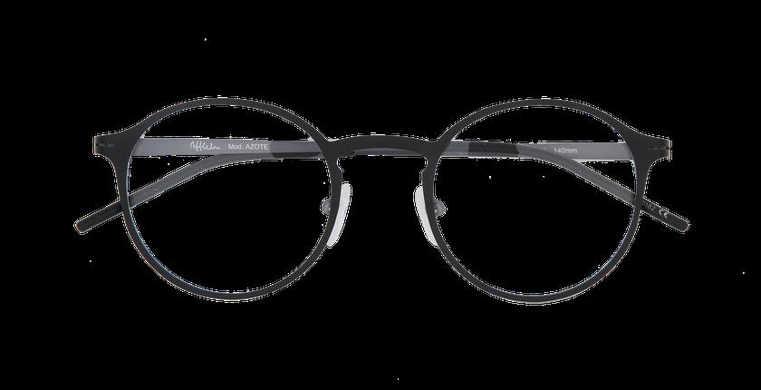 Lunettes de vue homme AZOTE noir/gris - Vue de face