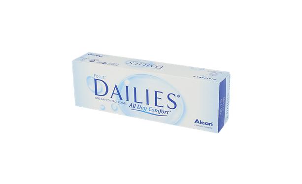 Lentilles de contact Dailies All Day Comfort 30L - Vue de face