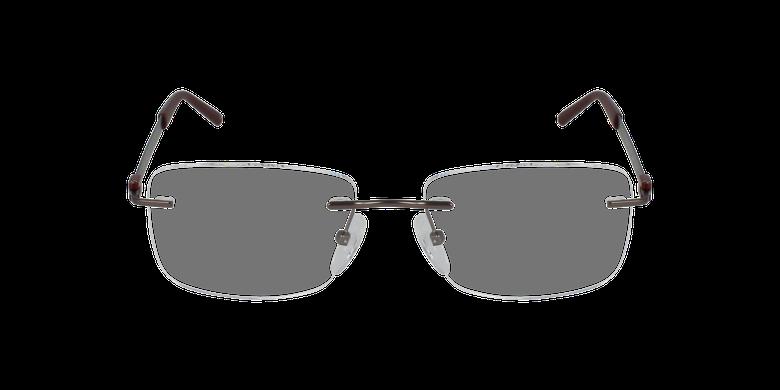 Lunettes de vue homme IDEALE-02 gris/rouge