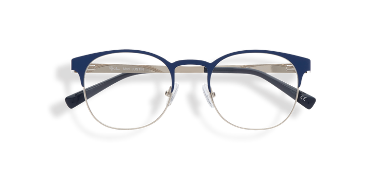 Lunettes de vue homme JUSTIN bleu/argenté