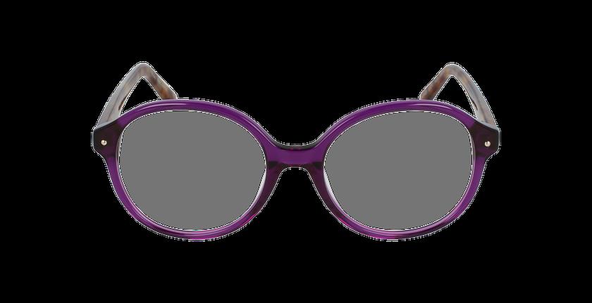 Lunettes de vue femme AMATA violet - Vue de face