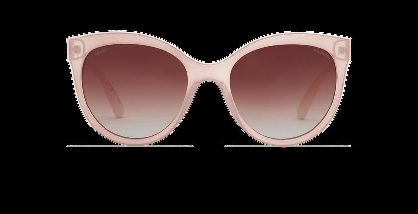 Lunettes de soleil femme AMANA POLARIZED rose/blanc - Vue de face