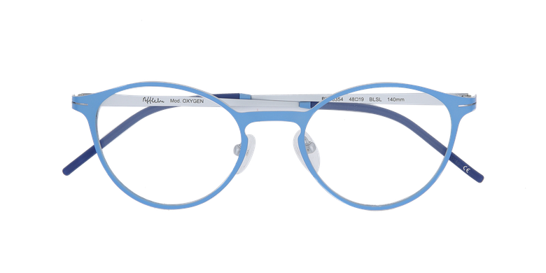 Lunettes de vue femme OXYGEN bleu/argenté