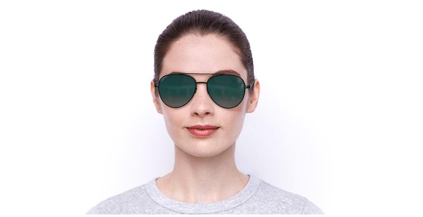 Lunettes de soleil femme PK0017 vert - Vue de face