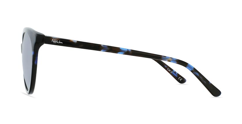 Lunettes de soleil femme ENORA bleu/écaille - Vue de côté