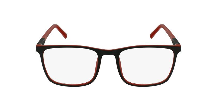 Lunettes de vue homme MALO noir/rouge - Vue de face