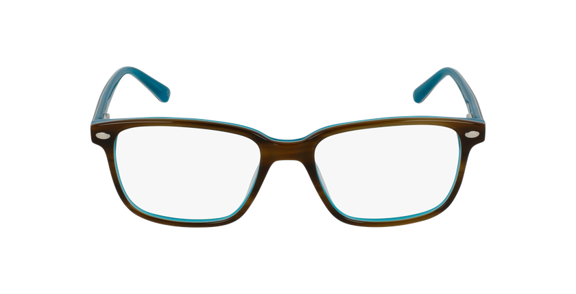 Lunettes de vue enfant AIDAN écaille/turquoise - Vue de face