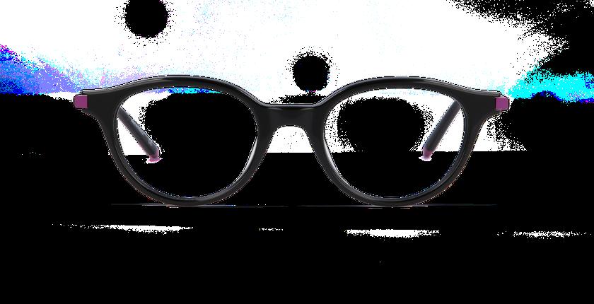 Lunettes de vue femme BLANCHE noir - Vue de face