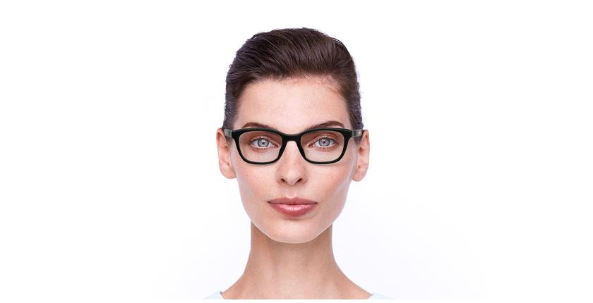 Lunettes de vue femme DIORETOILE2 noir/rose - Vue de face