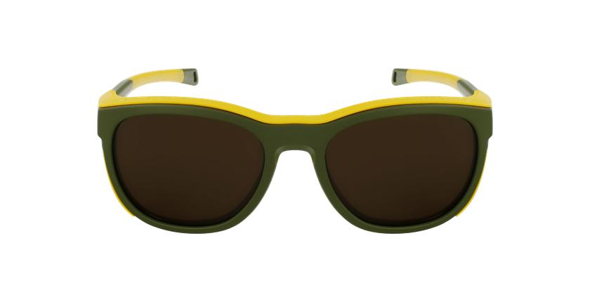 Lunettes de soleil Skyline vert/jaune - Vue de face
