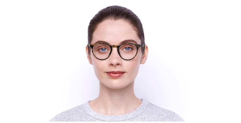 Lunettes de vue femme RZERO2 écaille - Vue de face