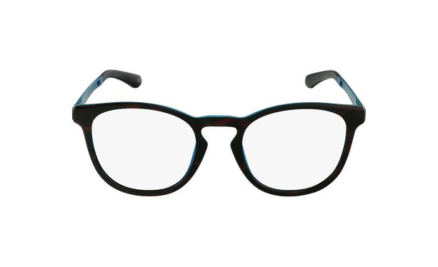 Lunettes de vue homme MAGIC 63 écaille/vert - Vue de face