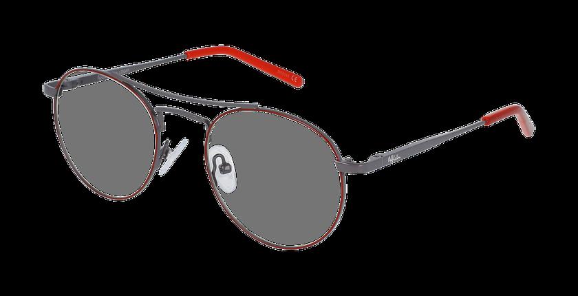 Lunettes de vue enfant LOGAN rouge/gris - vue de 3/4