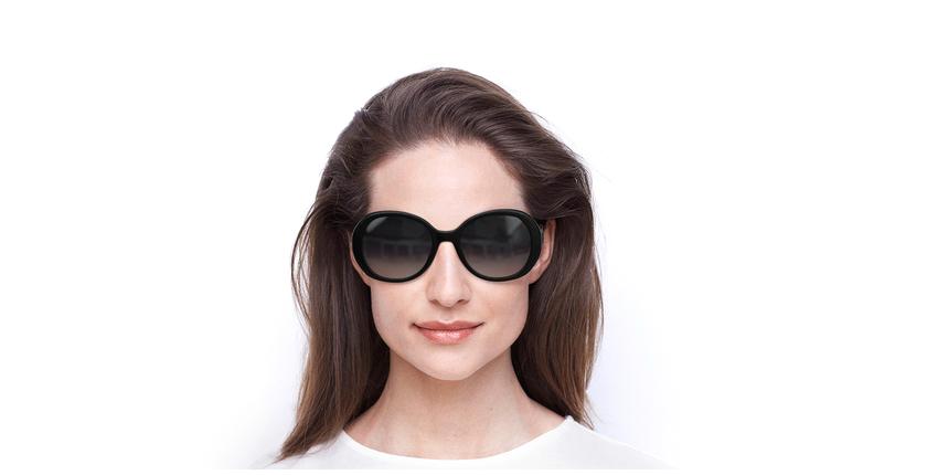 Lunettes de soleil femme MARC 377/S noir - Vue de face