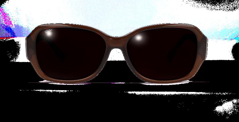 Lunettes de soleil femme EVE marron - Vue de face