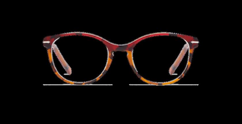 Lunettes de vue femme BELLEFONTAINE rouge/écaille - Vue de face