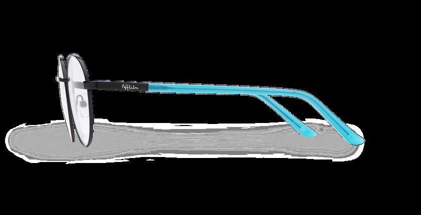 Lunettes de vue femme CLAIRE noir/bleu - Vue de côté