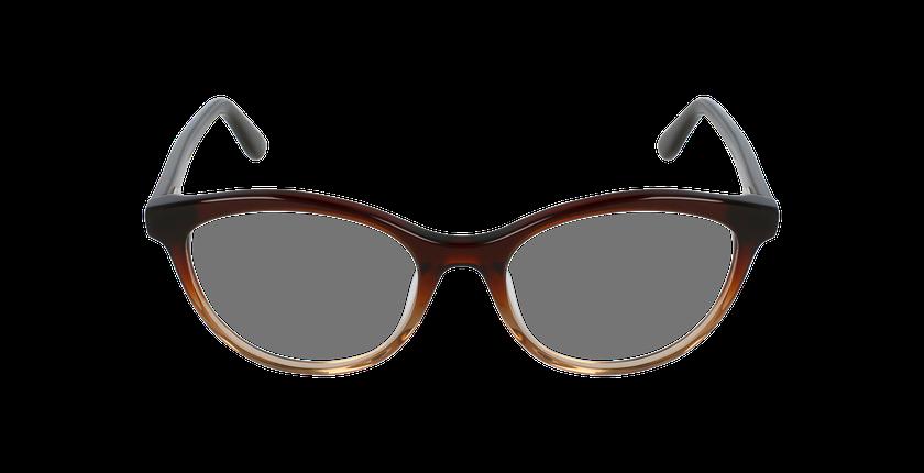Lunettes de vue femme AMELLE marron - Vue de face