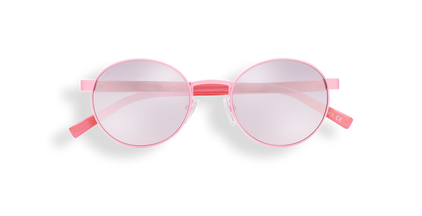 Lunettes de soleil femme TUTTI rose - Vue de face