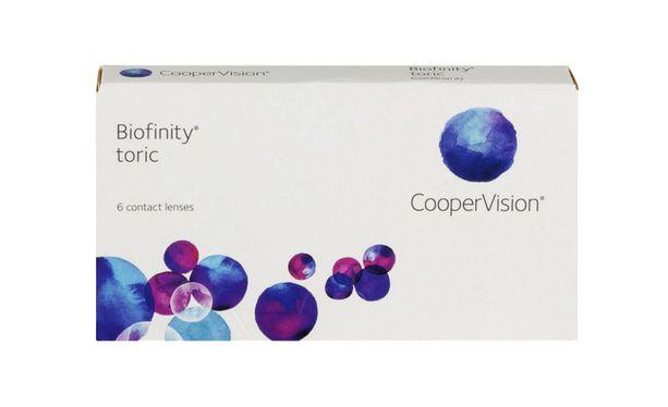 Lentilles de contact Biofinity® toric 6L - Vue de face