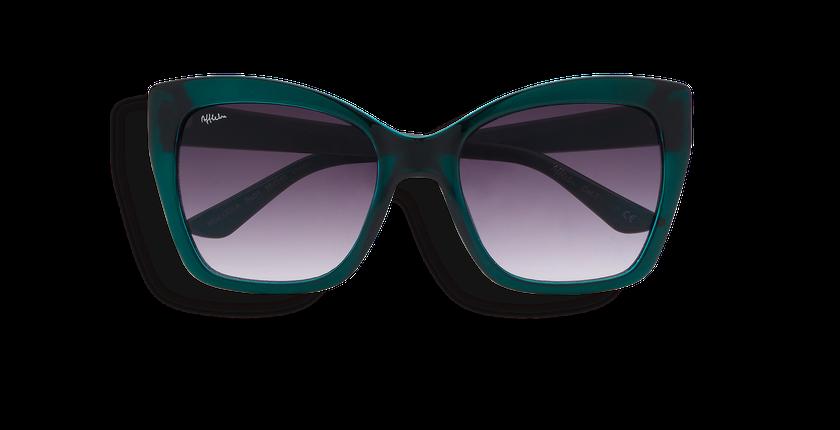 Lunettes de soleil femme LEILA turquoise - Vue de face