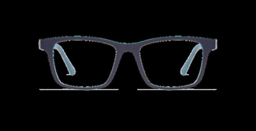 Lunettes de vue homme MAGIC 01 gris/mat gris foncé / bleu canard - Vue de face