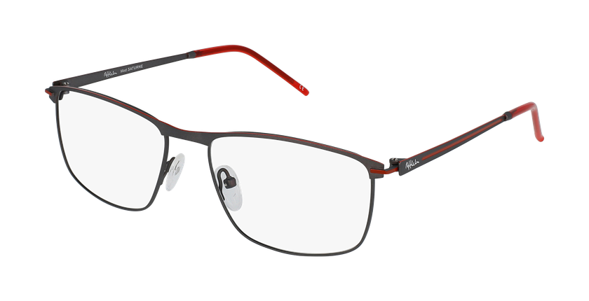 Lunettes de vue homme SATURNE gris/rouge - vue de 3/4
