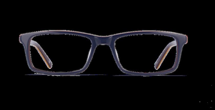 Lunettes de vue homme LEON bleu/violet - Vue de face