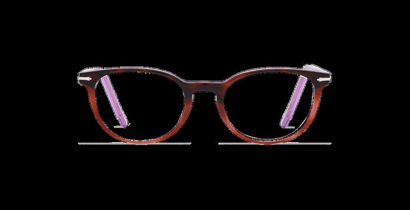 Lunettes de vue femme NANTUA écaille/violet - Vue de face