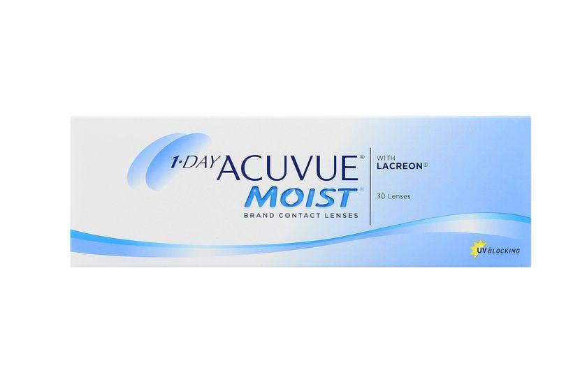 Lentilles de contact 1 Day Acuvue® Moist® 30L - Vue de face ... 4fdcdce5f102