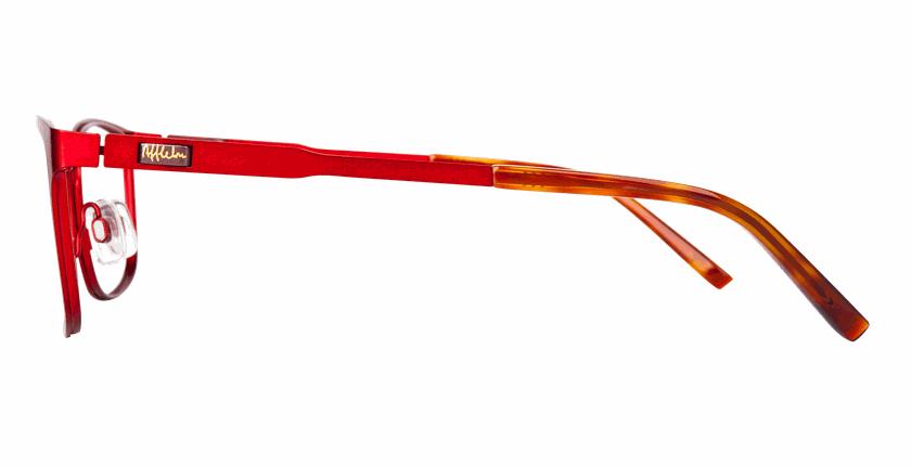 Lunettes de vue femme ALPHA5 rouge - Vue de côté