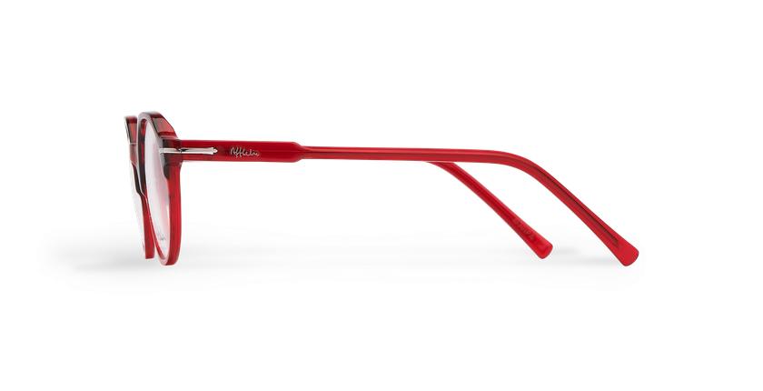 Lunettes de vue homme MOREZ écaille/rouge - Vue de côté