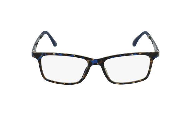 Lunettes de vue homme MAGIC 32 écaille/bleu - Vue de face