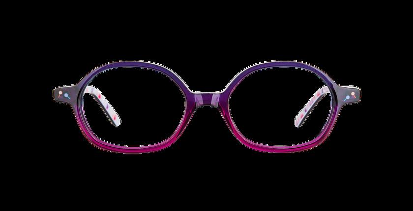 Lunettes de vue enfant FLUFFY1 violet - Vue de face