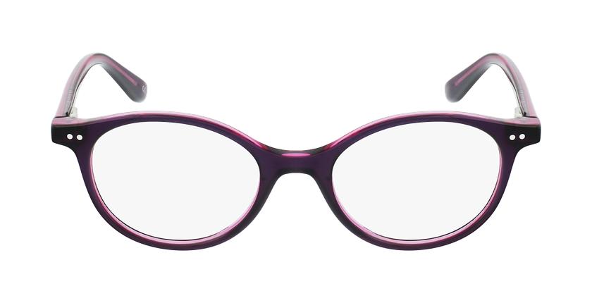 Lunettes de vue enfant CAPUCINE violet/rose - Vue de face