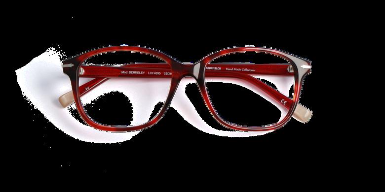 Lunettes de vue femme BERKELEY rouge/écaille