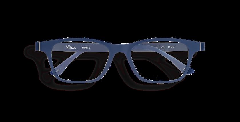 Lunettes de vue homme MAGIC 02 bleu - Vue de face